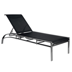Woodard Metropolis Sling Stackable Chaise Lounge with Adjustable Back - 320470
