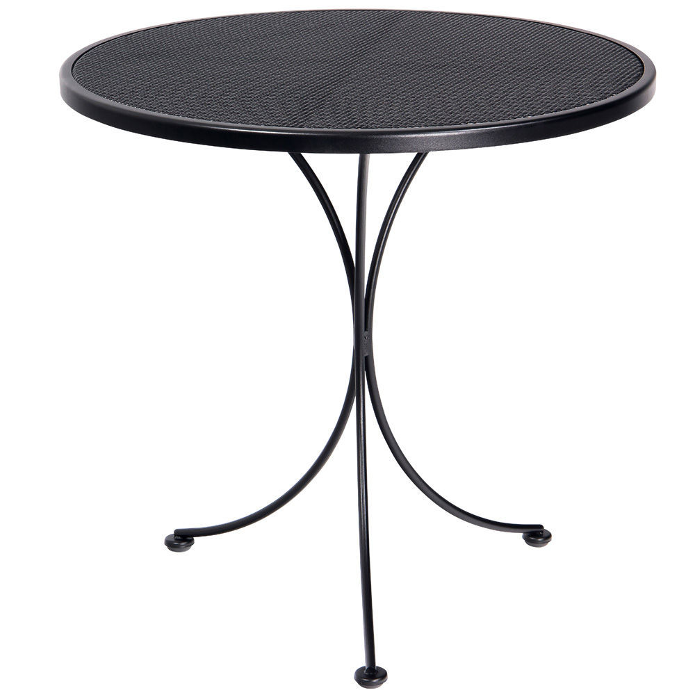 Woodard 30 Inch Round Micro Mesh Top Bistro Table - 220134