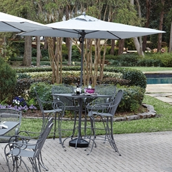 Woodard Modesto Wrought Iron Outdoor Bar Set for 4 - WD-MODESTO-SET2