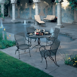 Woodard Modesto Wrought Iron Outdoor Dining Set for 4 - WD-MODESTO-SET3