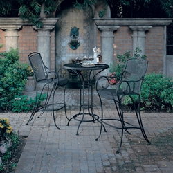 Woodard Modesto Wrought Iron Outdoor Bar Set - WD-MODESTO-SET5
