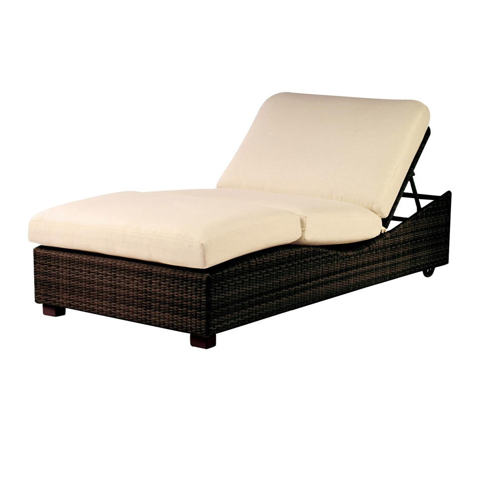 Woodard Montecito Wicker Double Chaise Lounge