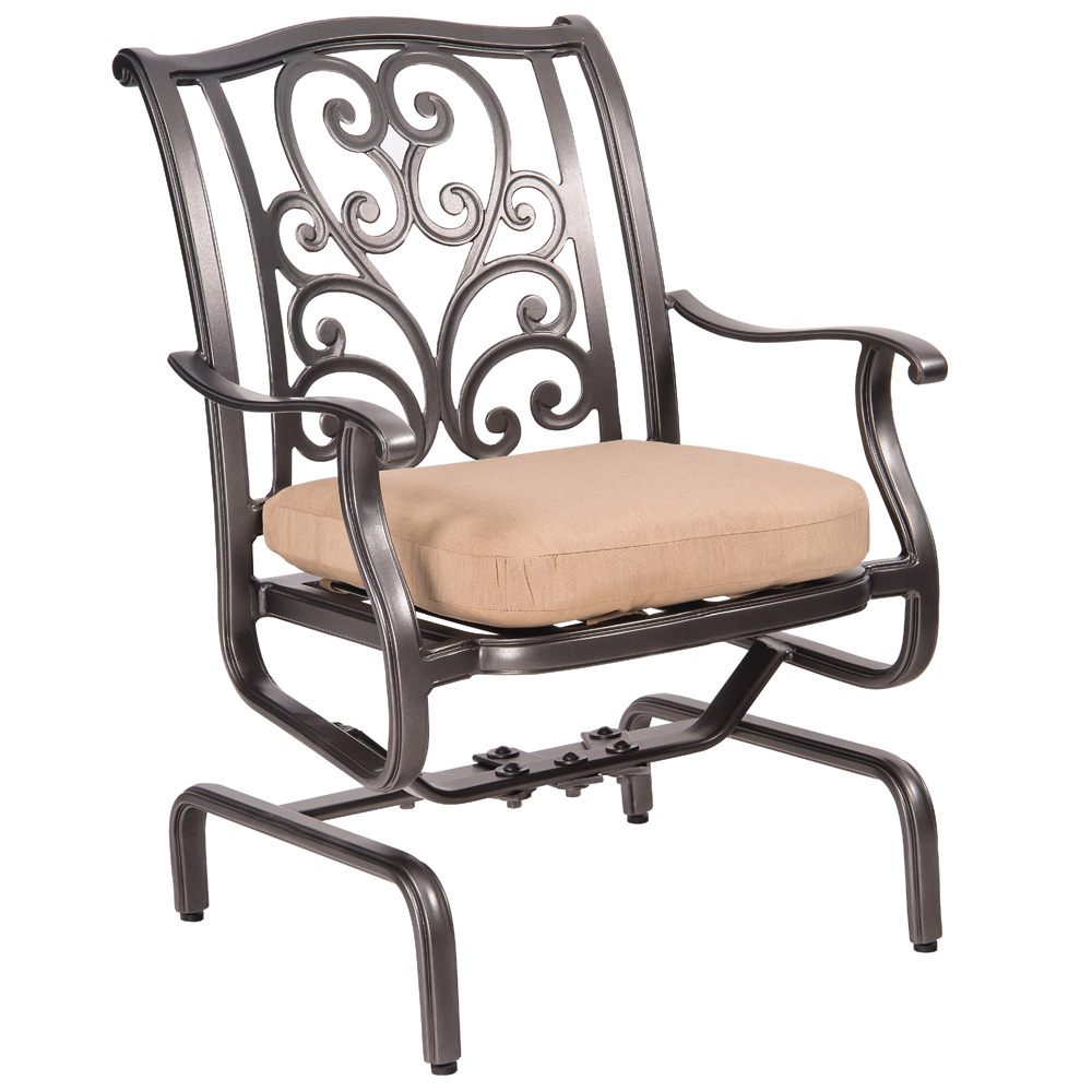 Woodard New Orleans Spring Rocker Dining Arm Chair - 3W0405