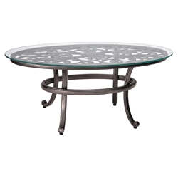 Woodard New Orleans Coffee Table with Glass Top - 3W0443