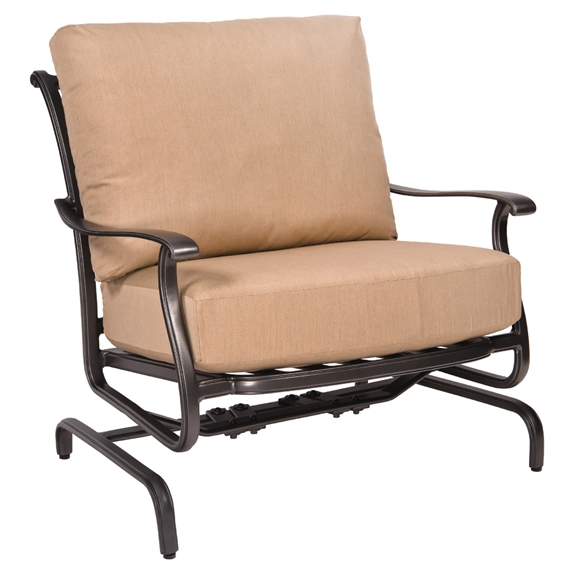 Woodard new orleans spring lounge chair 3w0465 for Outdoor furniture new orleans