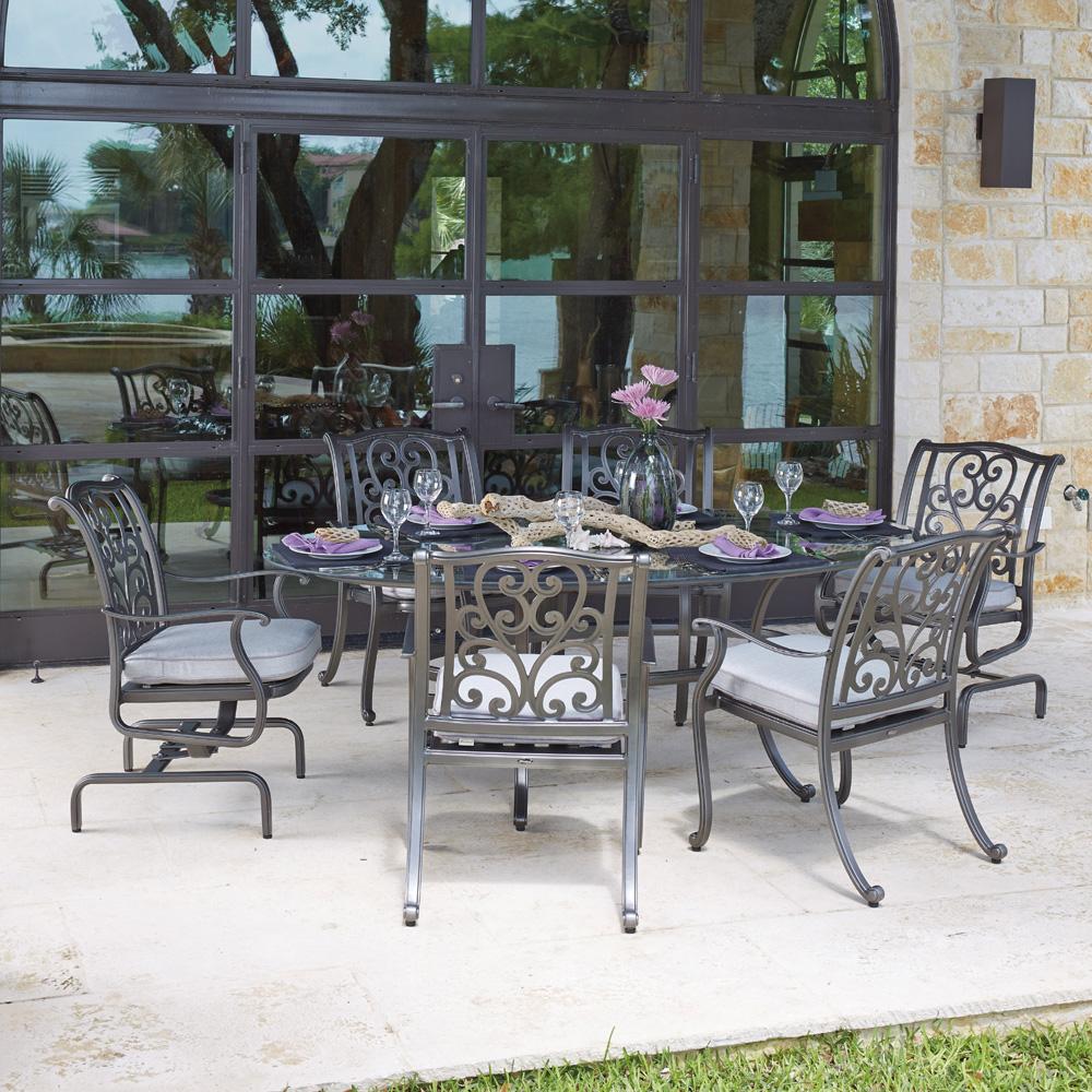 Woodard New Orleans Spring Rocker Dining Arm Chair W