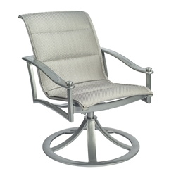 Woodard Nob Hill Padded Sling Swivel Rocking Dining Arm Chair - 300572