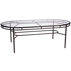 Woodard Nob Hill Oval Umbrella Table - 3U84BT