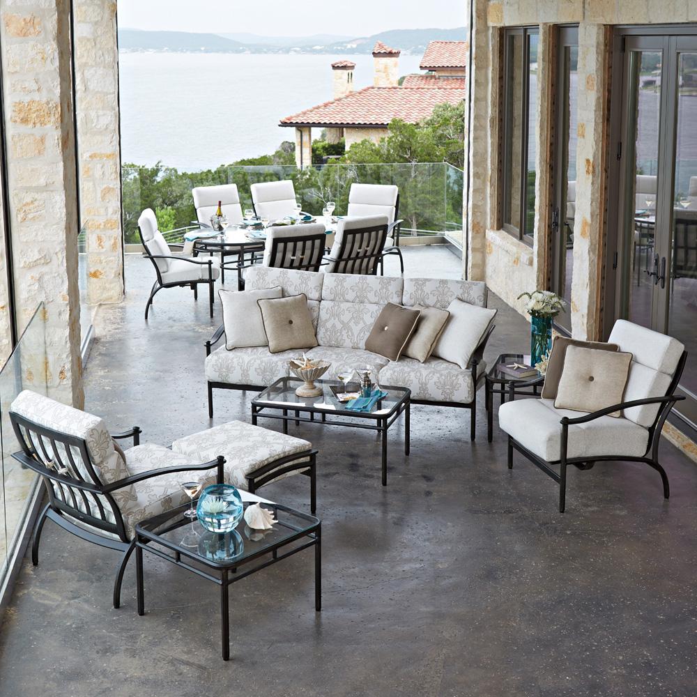 Woodard nob hill internal rocking dining arm chair 3u0405 for Woodard patio furniture