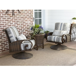 Woodard North Shore Swivel Rocking Outdoor Wicker Lounge Chair Set - WD-NORTHSHORE-SET5
