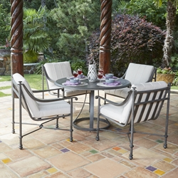 Woodard Nova Cast Aluminum 5 Piece Patio Dining Set - WD-NOVA-SET4