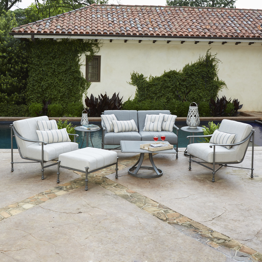 Woodard Nova Cast Aluminum Patio Lounge Set   WD NOVA SET5