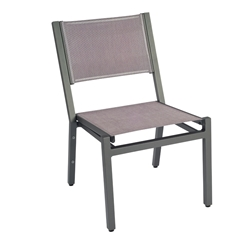 Woodard Palm Coast Sling Stacking Dining Side Chair - 570402