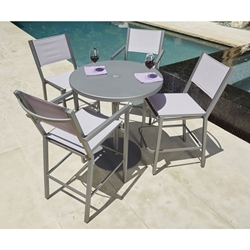 Woodard Palm Coast 5 Piece Patio Bar Set - WD-PALMCOAST-SET2
