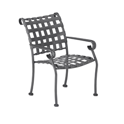 Woodard Ramsgate Strap Dining Arm Chair - Stackable - 160417