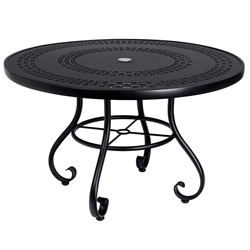 Woodard Ramsgate 48 Inch Round Umbrella Table with Trellis Top - 160582A