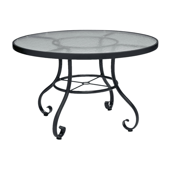 Woodard ramsgate 48 inch round dining table with obscure for Table 52 botswana