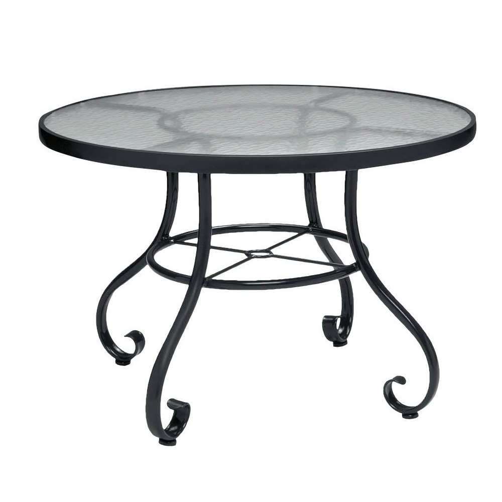 Woodard Ramsgate Round Dining Table With Obscure Glass Top - 36 inch oval dining table