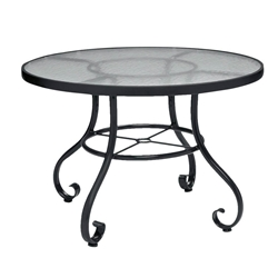 Woodard Ramsgate 36 Inch Round Dining Table with Obscure Glass Top - 166437