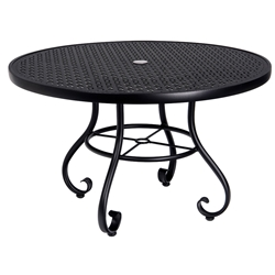 Woodard Ramsgate 48 Inch Round Umbrella Table with Lattice Top - 166582L