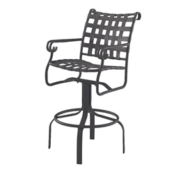 Woodard Ramsgate Swivel Bar Stool with Arms - 16M468