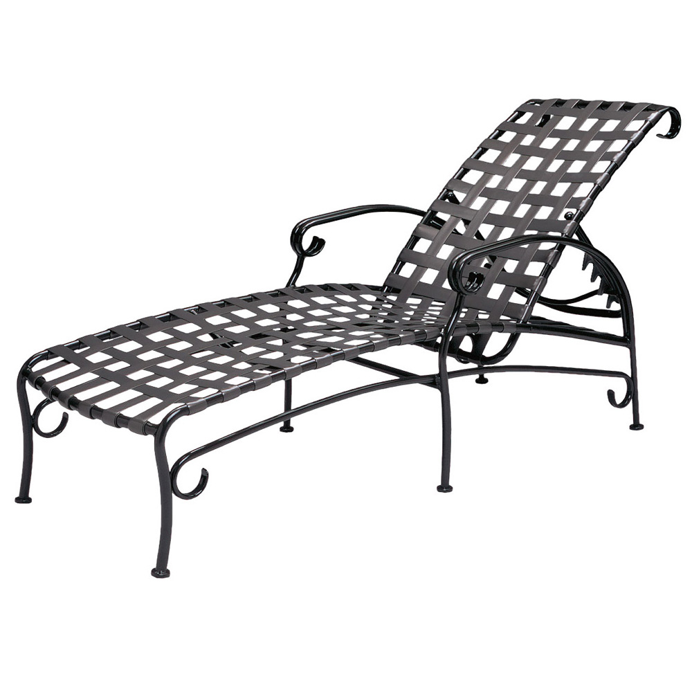 woodard ramsgate strap adjustable chaise lounge 16m470