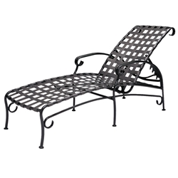 Woodard Ramsgate Strap Adjustable Chaise Lounge - 16M470