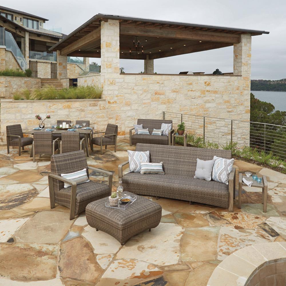 Woodard Reynolds Wicker Outdoor Sofa Set