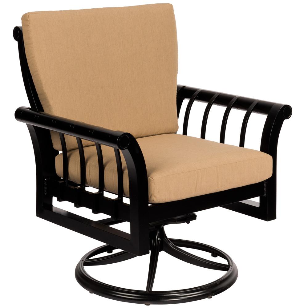 Woodard Rhyss Swivel Rocking Dining Arm Chair   7Y0472