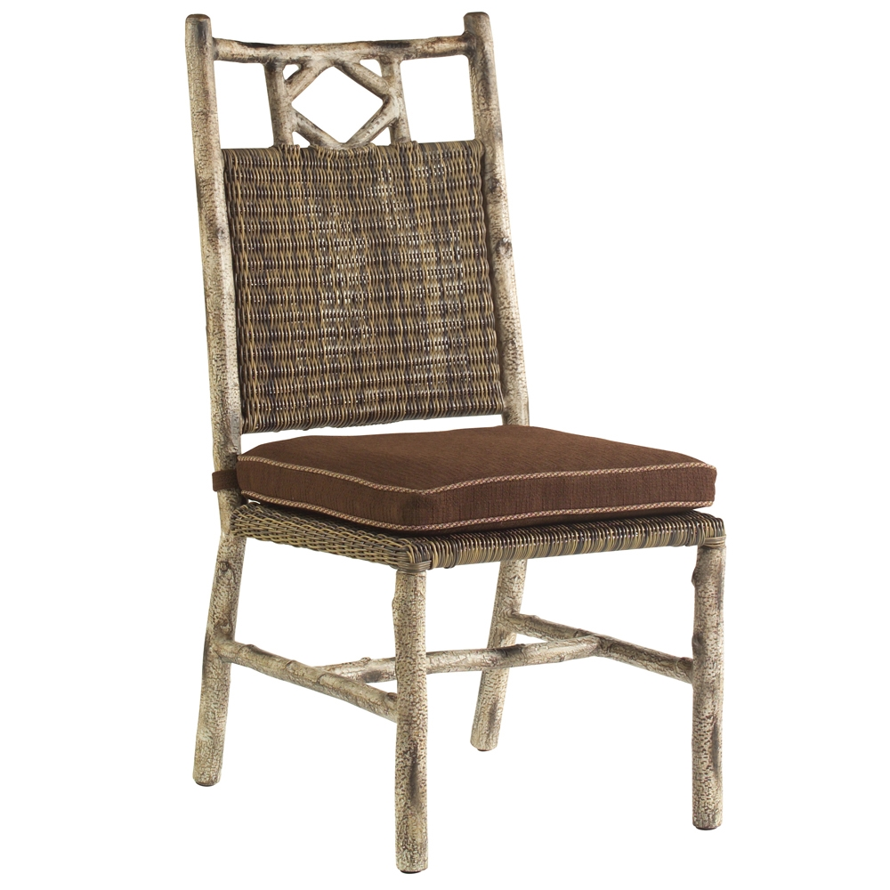 Woodard river run birch lodge dining side chair s545511 for Woodard outdoor furniture