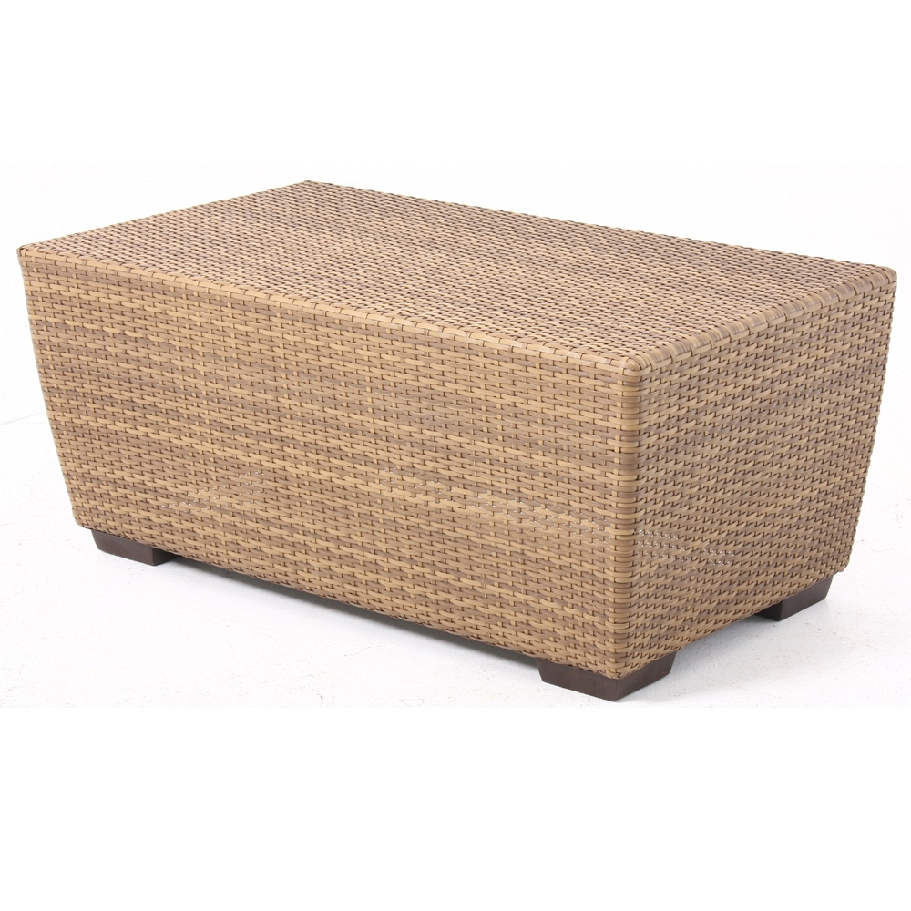 Woodard Saddleback Rectangle Wicker Cocktail Table S523213