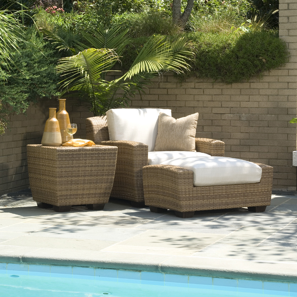 Woodard Saddleback 3 Piece Lounge Chair Set - WHITECRAFT-SADDLEBACK-SET1