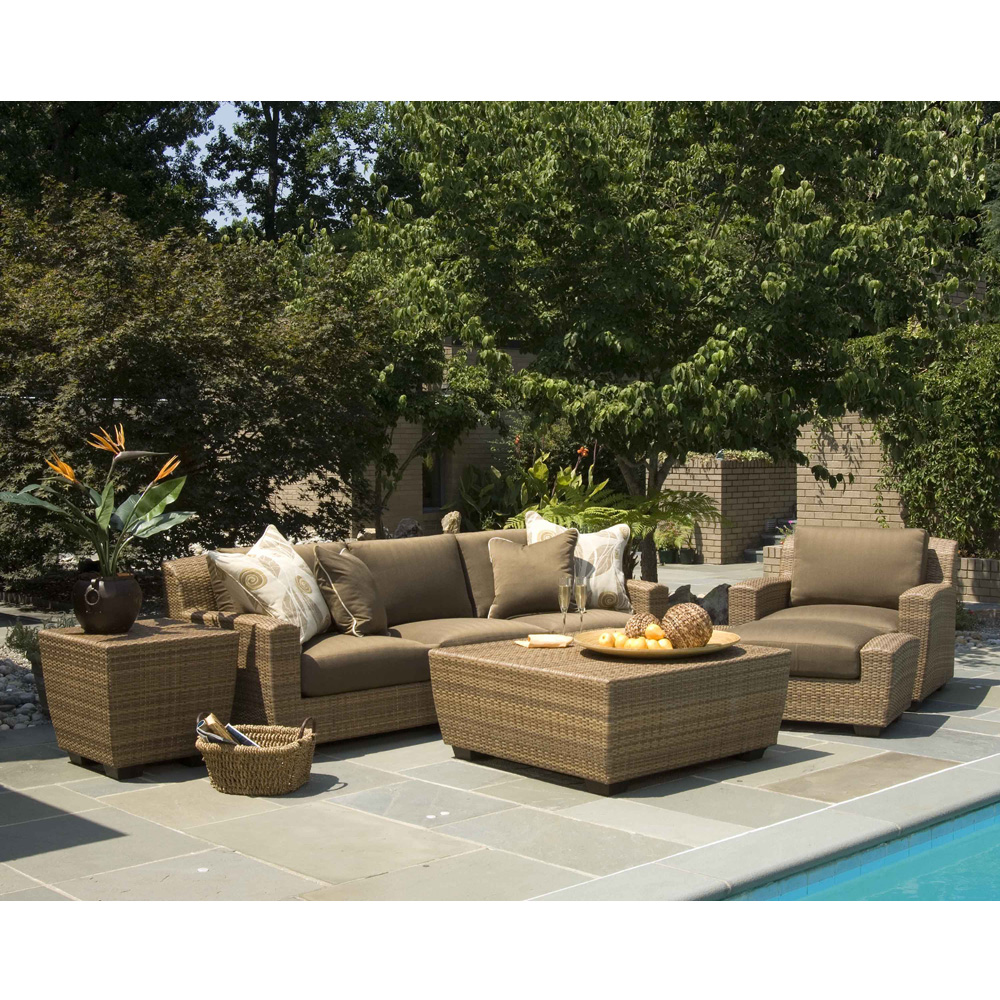 Woodard reynolds wicker outdoor sofa set wd reynolds set1 - Mobilier jardin design roberti rattan ...