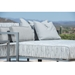 Salona Aluminum Sectional Chaise Arm Detail