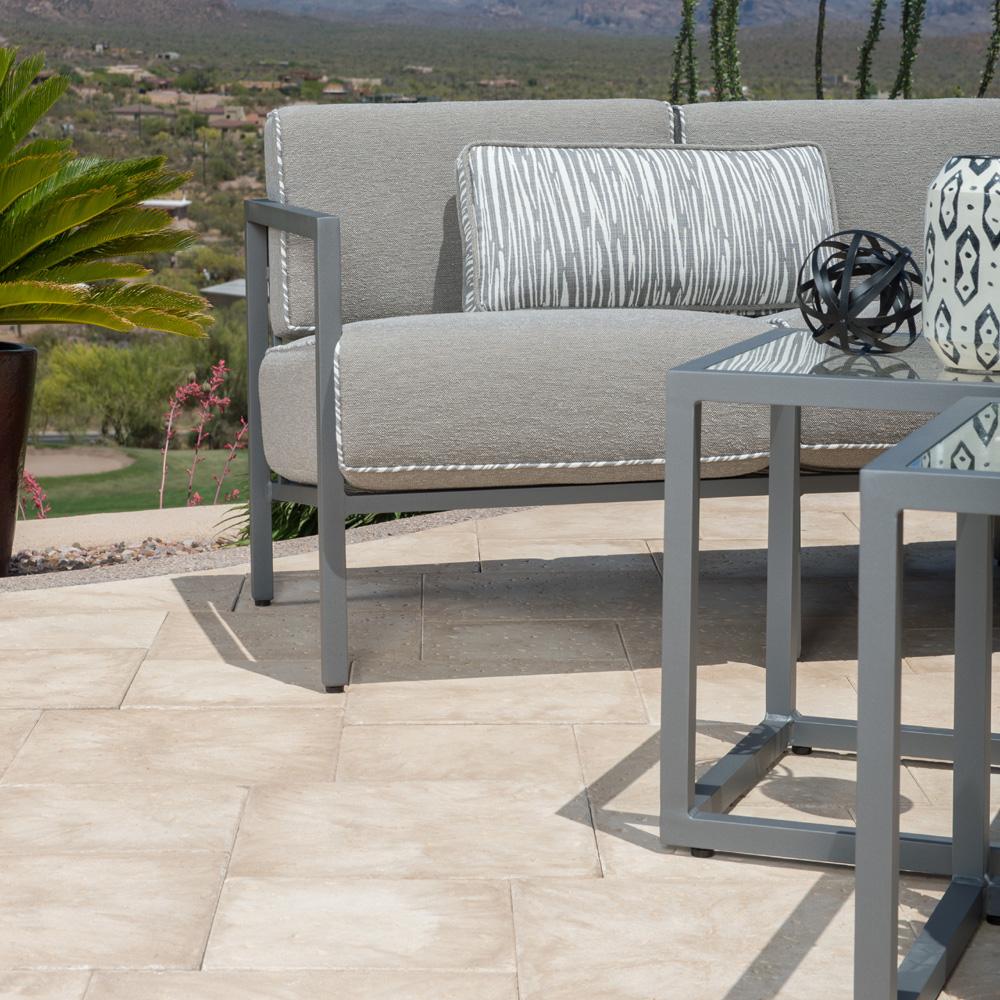 Woodard salona aluminum patio sectional set wd salona set5 for Beauty spa tableview