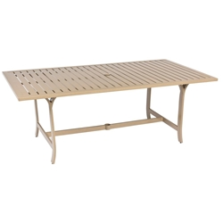 Woodard Seal Cove Rectangular Dining Umbrella Table - 1X0707