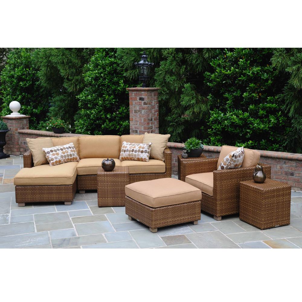 woodard sedona wicker sectional patio set wc sedona set1