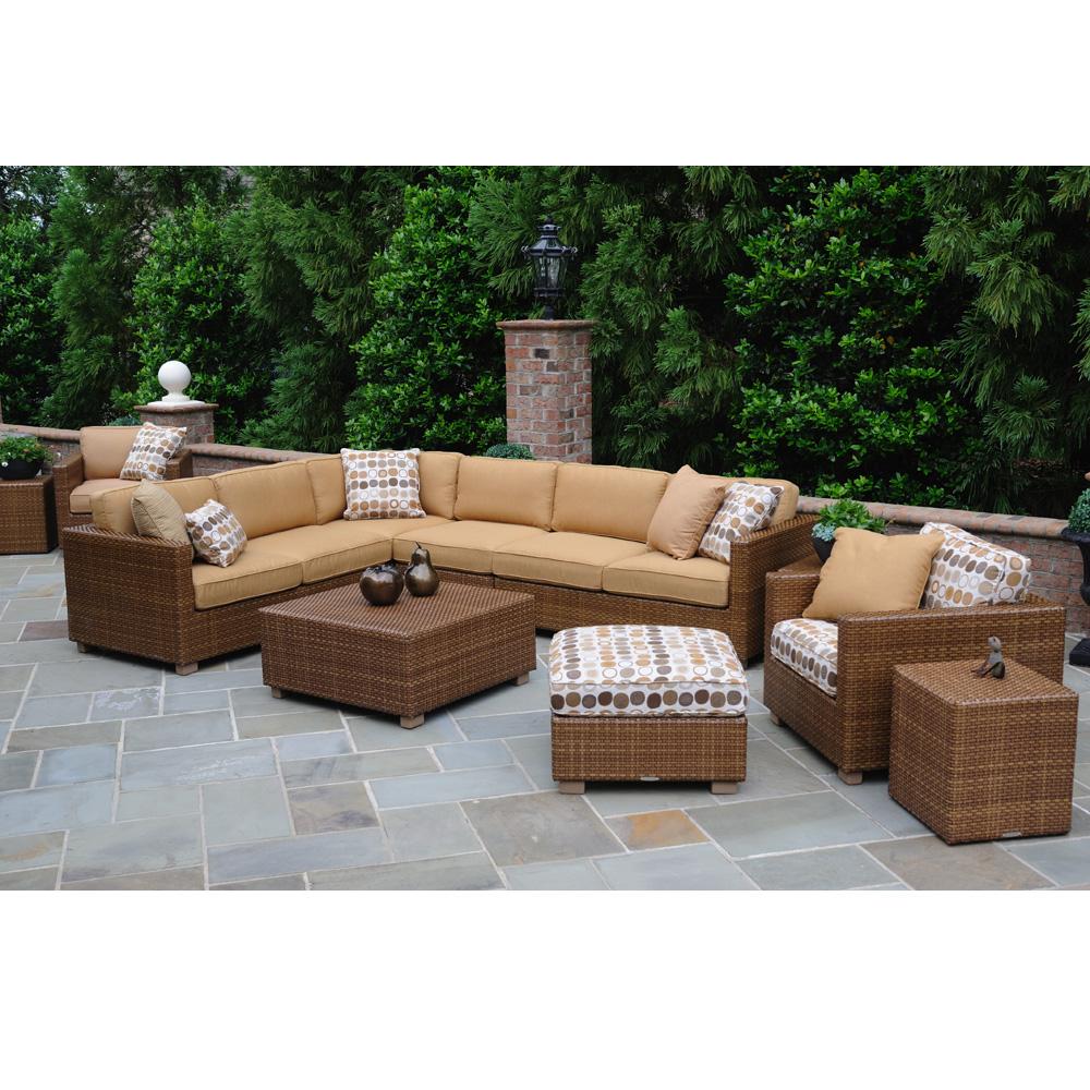 Woodard Sedona Wicker L Sectional Sofa