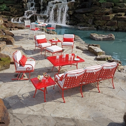 Woodard Sheffield Wrought Iron Sofa Patio Set - WD-SHEFFIELD-SET3
