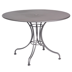 Woodard 42 Inch Round Solid Top Umbrella Table w/ Universal Base - 13L4RU42