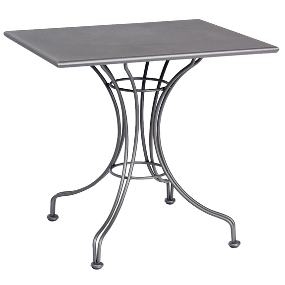 Woodard 24 Inch x 30 Inch Rectangular Solid Top Bistro Table - 13L4TD24