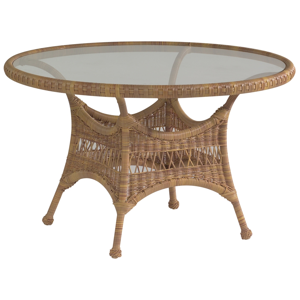 Woodard Sommerwind Glass Top Dining Table - S596602