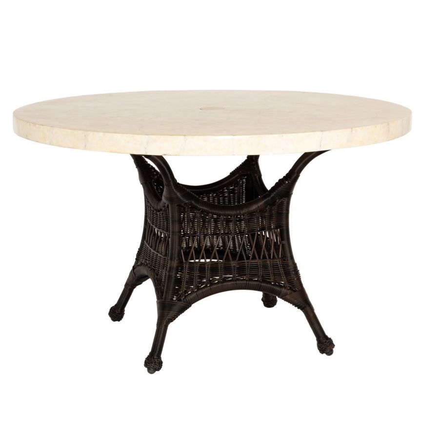 Woodard Sommerwind Stone Top Dining Table - S596604