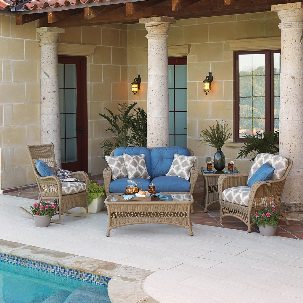 Woodard Sommerwind 5-Piece Wicker Patio Set - WD-SOMMERWIND-SET2
