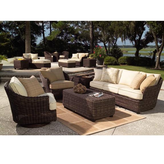 Woodard sonoma 5 piece wicker patio set wc sonoma set5 for Woodard patio furniture