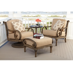 Woodard South Shore 4 Piece Wicker Lounge Chair Set - WD-SOUTHSHORE-SET3