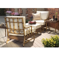 Woodard South Terrace 5 Piece Chat Set - WHITECRAFT-SOUTHTERRACE-SET2