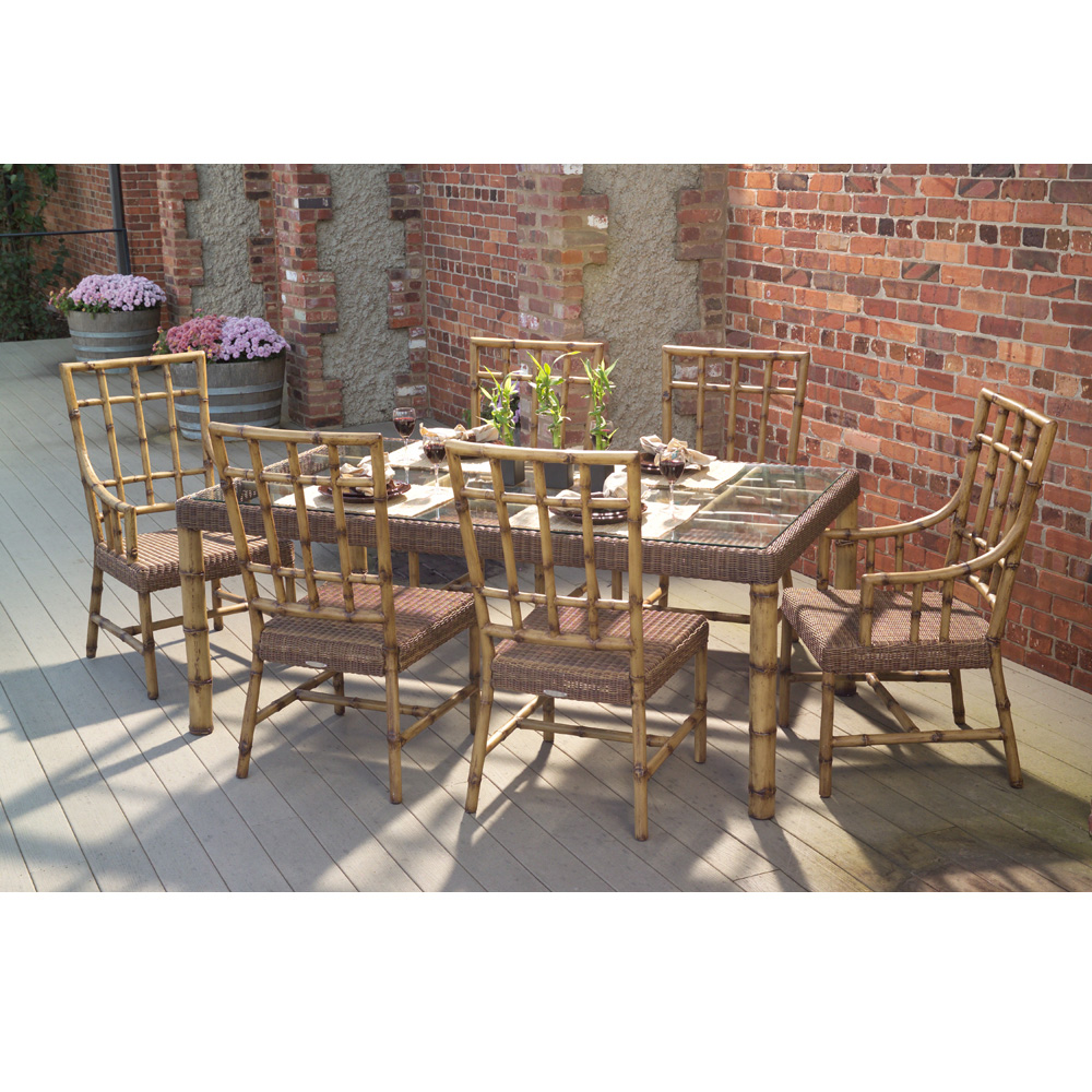 Woodard south terrace 7 piece patio dining set wc for Woodard outdoor furniture