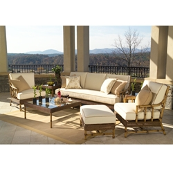 Woodard South Terrace 7 Piece Patio Set - WHITECRAFT-SOUTHTERRACE-SET5