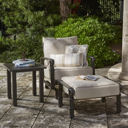 Woodard Spartan Cast Aluminum Spring Base Lounge Chair Set - WD-SPARTAN-SET4